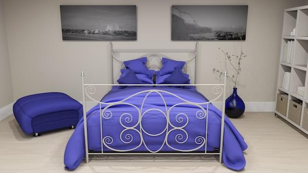 3dベッドルームインテリア 無料写真