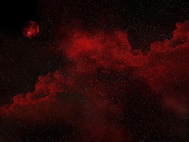 3d宇宙空の背景 無料写真