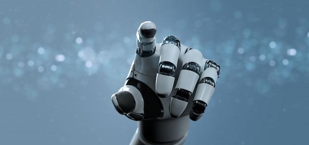Рука робота-киборга - 3d-рендеринг Premium Фотографии
