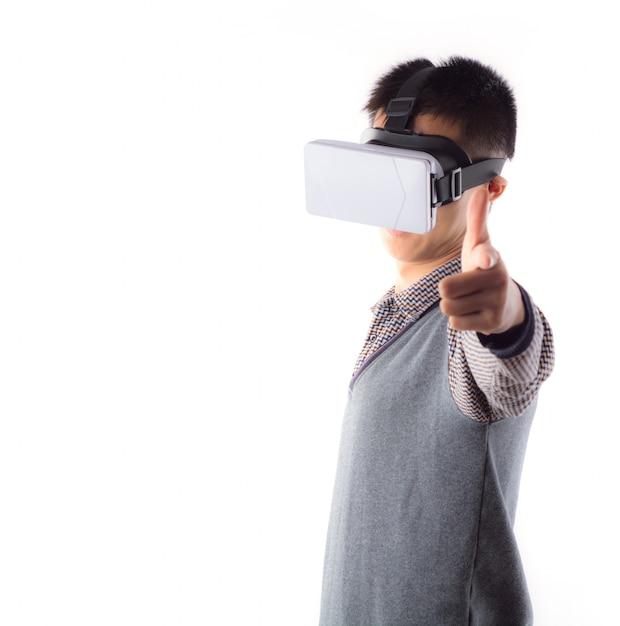 3d現実知覚サイバースペースのティーンエイジャー 無料写真