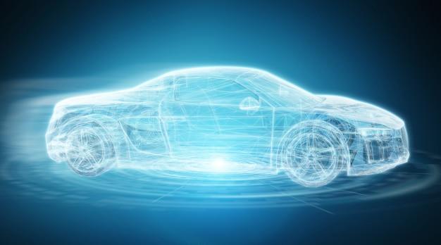 Современный цифровой интеллектуальный автомобильный интерфейс 3d-рендеринга Premium Фотографии