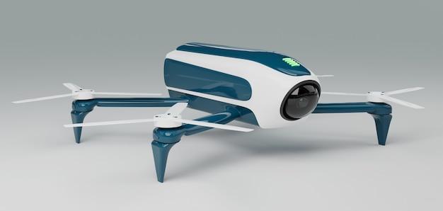 Современный дрон 3d рендеринг Premium Фотографии