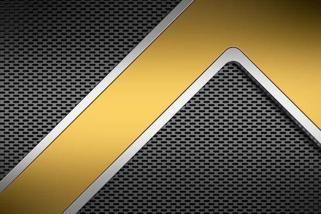Металлический фон. 3d-рендеринг. Premium Фотографии