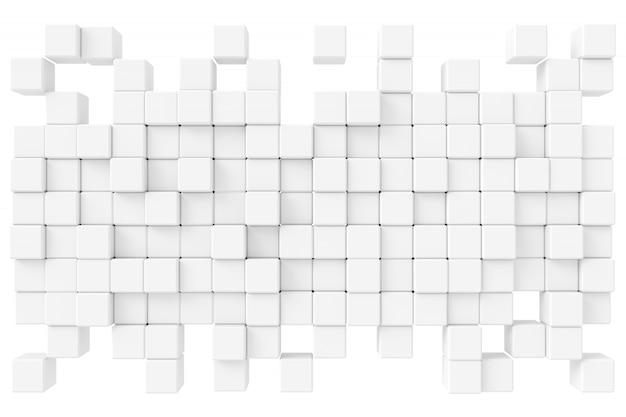 Абстрактный фон из кубиков. 3d-рендеринг. Premium Фотографии