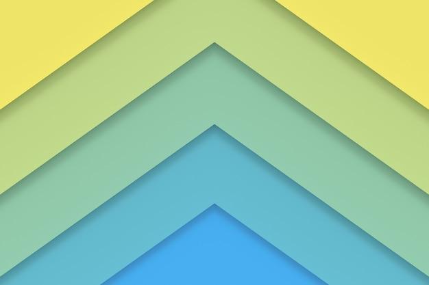 カラフルな紙の抽象的な背景。 3dレンダリング。 Premium写真