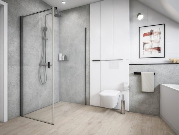 3d архитектура ванная комната Premium Фотографии