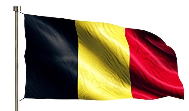 ベルギーの国旗は、3dの白い背景を分離 無料写真