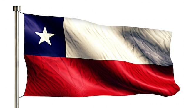 チリ国旗孤独な3d白い背景 無料写真