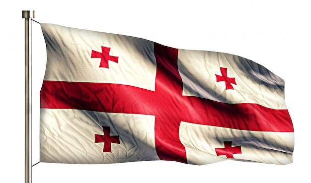 ジョージア国旗は、3dの白い背景を分離 無料写真