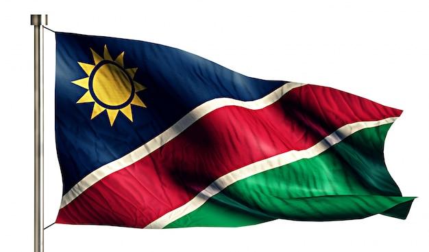 ナミビア国旗孤独な3d白い背景 無料写真