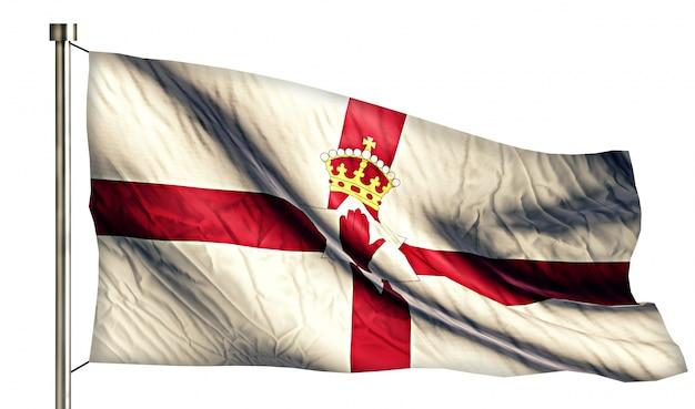 Северная ирландия национальный флаг изолированных 3d белый фон Бесплатные Фотографии