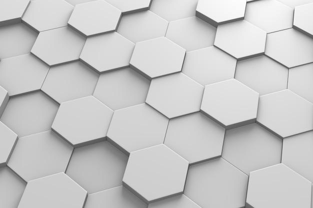 Гексагональная плитка 3d модель Premium Фотографии
