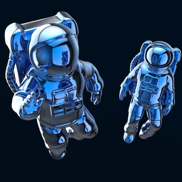 宇宙飛行士-3dイラストレーション Premium写真