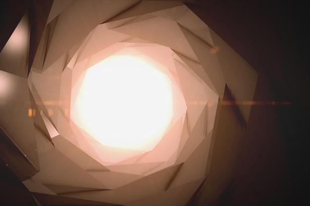 3d рендеринг абстрактной научной фантастики футуристический фон - космические путешествия - телепорт Premium Фотографии