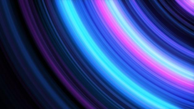 Абстрактная 3d иллюстрации фона светящихся линий Premium Фотографии