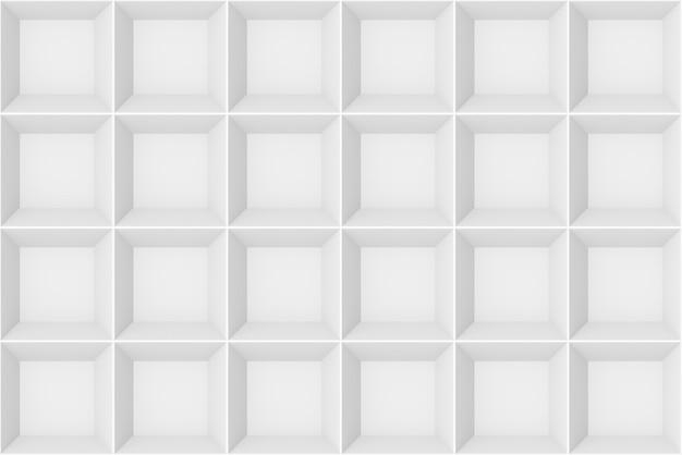 3d-рендеринг. бесшовные современный белый серый квадратный узор сетки дизайн стены текстуры фона. Premium Фотографии