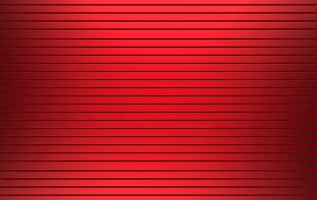 3d-рендеринг. красный цвет горизонтальная металлическая панель параллельного затвора двери фоне стены. Premium Фотографии
