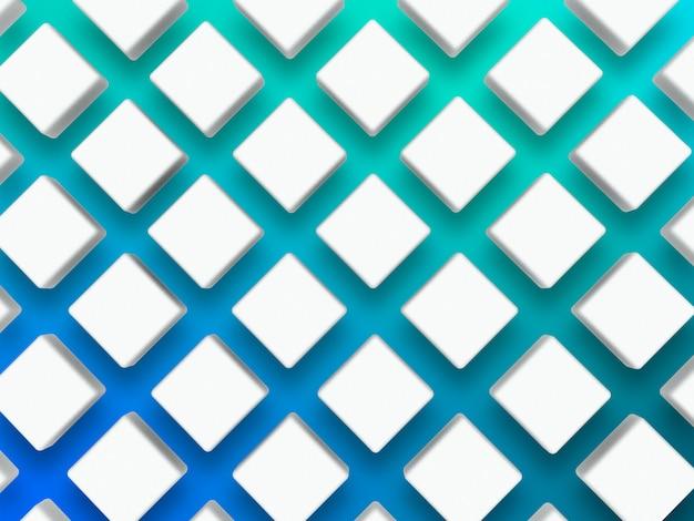 3d модель с ромбом на синем Premium Фотографии