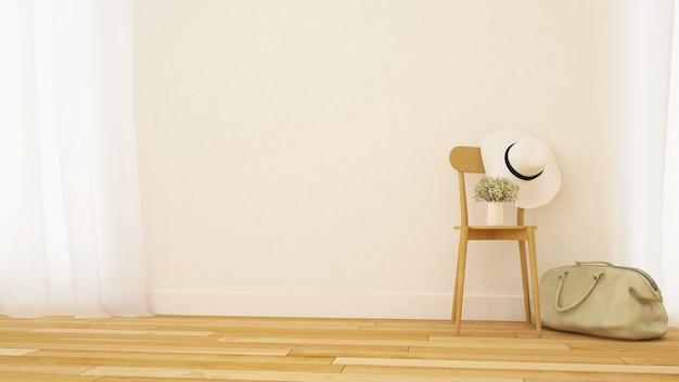 リビングルームやギャラリーのミニマルデザイン -  3dレンダリング Premium写真