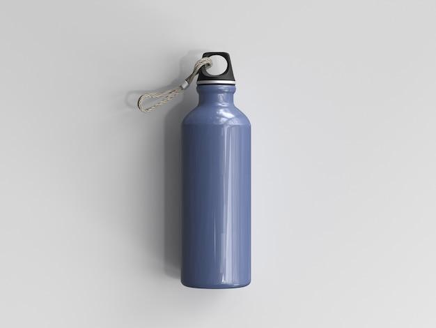 3dレンダリングアルミニウムウォーターボトル Premium写真
