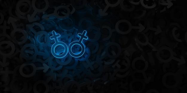Концепт-арт на тему однополой любви 3d иллюстрации Premium Фотографии