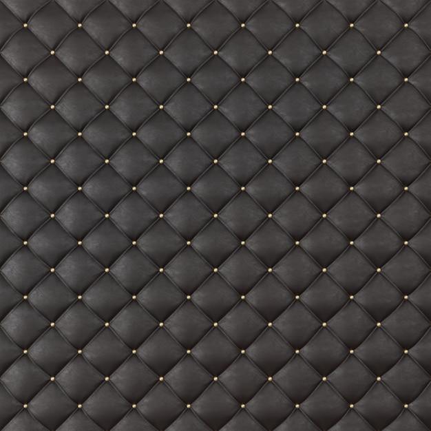 茶色の革張りソファの背景。茶色の豪華な装飾ソファ。パターンと背景のボタンでエレガントな茶色の革の質感。 3dレンダリング Premium写真