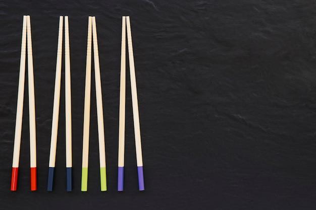 4箸のペア 無料写真