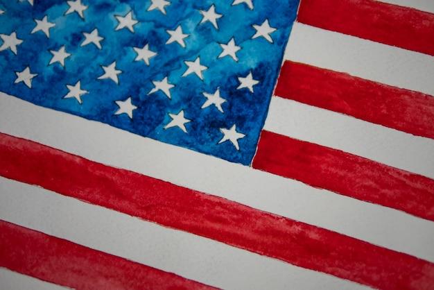 День независимости сша 4 июля. американский флаг Premium Фотографии