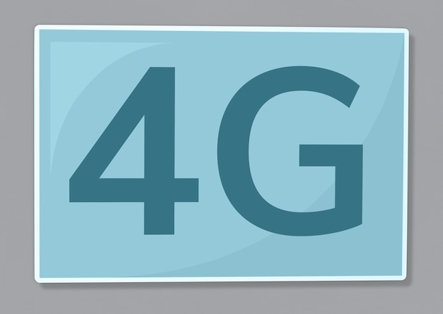 4g network communication icon illustration Free Photo