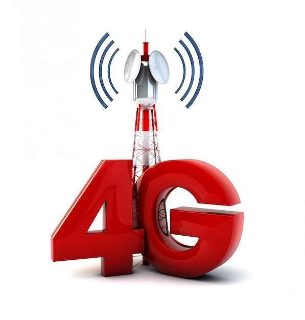 4g tower Premium Photo