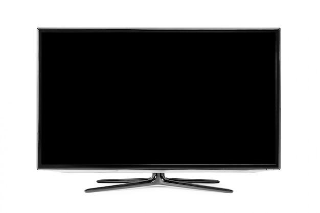 4k monitor isolated on white Premium Photo
