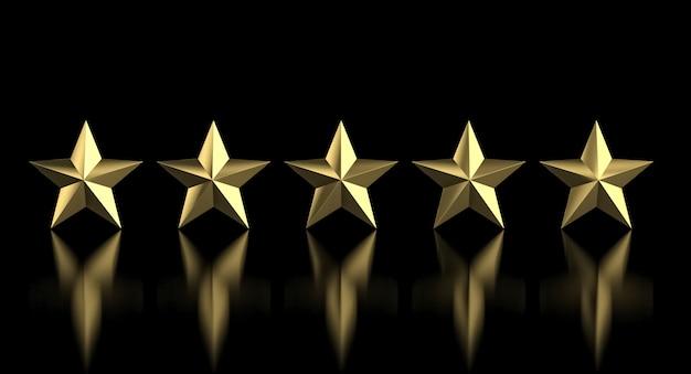 5 golden star Premium Photo
