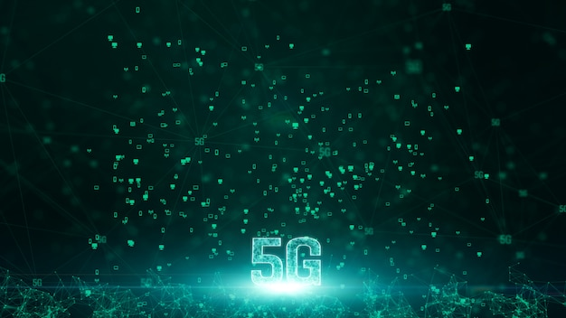 5g connectivity of digital data and conceptual futuristic information technology using artificial intelligence ai Premium Photo