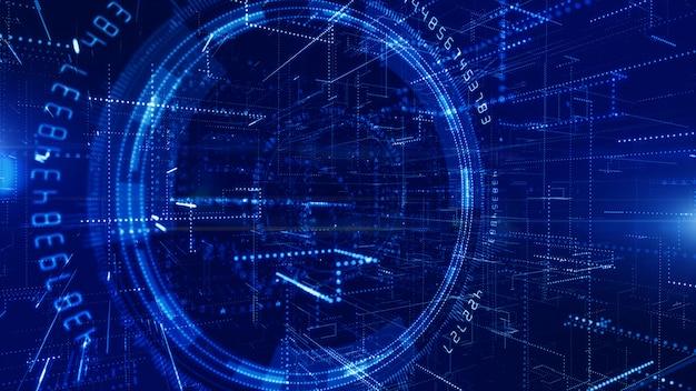 5g technology digital data connection background Premium Photo
