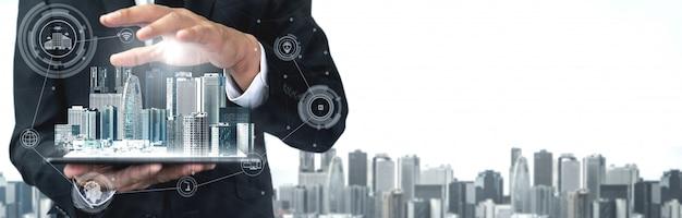 5g коммуникационные технологии интернет-сети Premium Фотографии