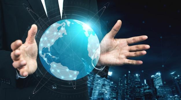インターネットネットワークの5g通信技術 Premium写真