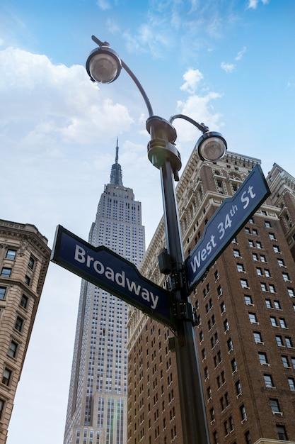 マンハッタンニューヨーク市ブロードウェイ6th av Premium写真
