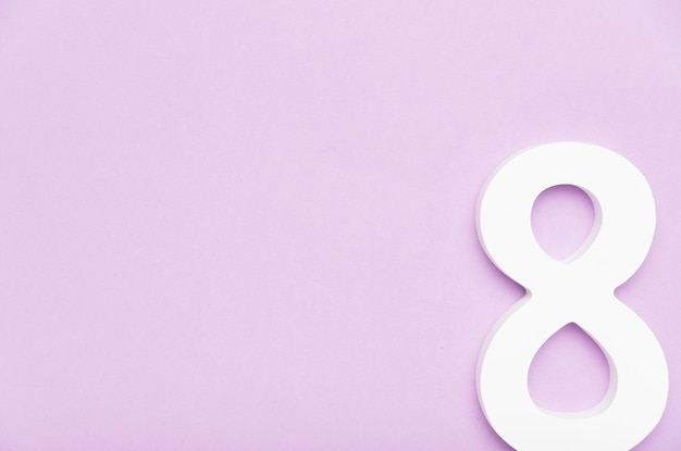 8 марта символ концепции с копией пространства Бесплатные Фотографии