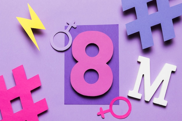 8th march feminism movement and women's day Free Photo