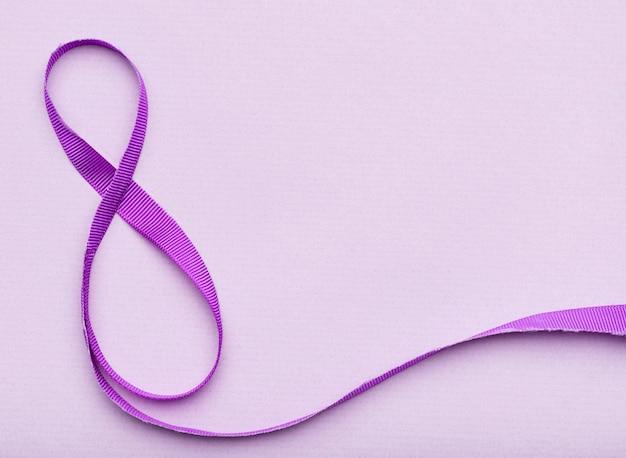 8th of march ribbon symbol Free Photo