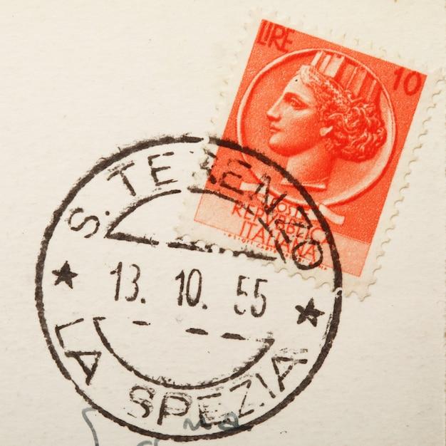 古い切手と郵便切手 Premium写真