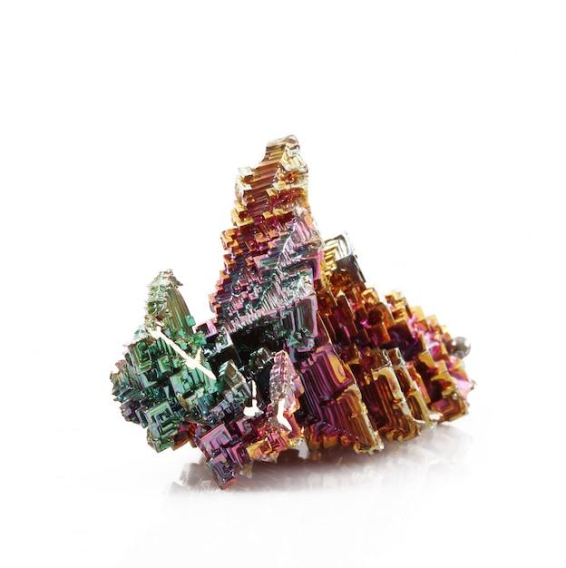 Кристаллы висмута Premium Фотографии
