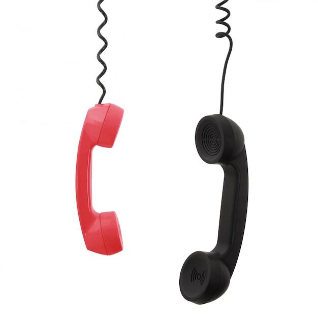 電話の受話器 Premium写真