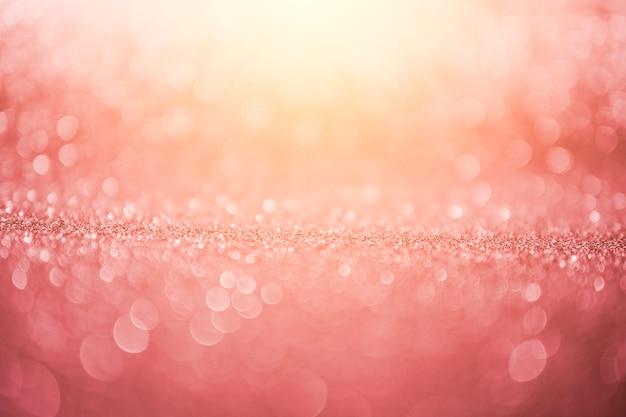 ピンクの日当たりの良い抽象的なボケ背景 Premium写真
