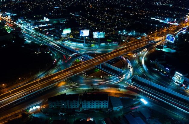 高速道路平面図、道路交通はタイの重要なインフラストラクチャ Premium写真