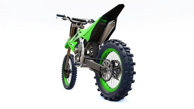 クロスカントリー向けの緑と黒のスポーツバイク Premium写真