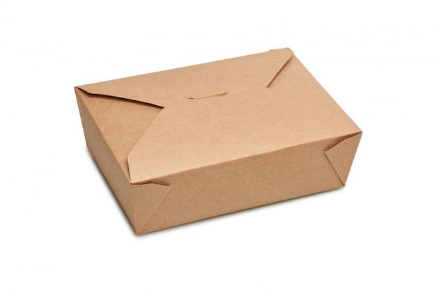 食べ物を食べる準備ができているための空の段ボール箱を配達 Premium写真