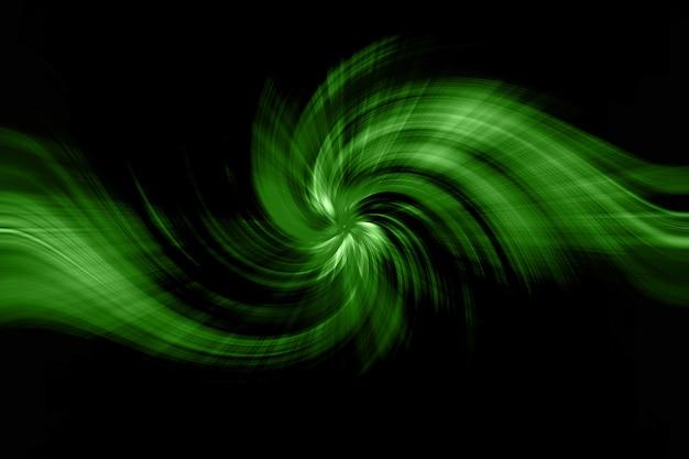 抽象的な背景緑髪ツイスト形状。 Premium写真