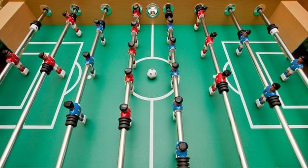 テーブルサッカー、上面図。 Premium写真