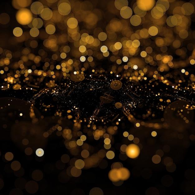 黄金のダスト粒子の背景 無料写真